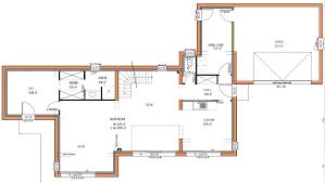 plan maison contemporaine plain pied 3 chambres cuisine projets immobiliers loire atlantique plan maison