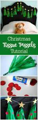 tutorial christmas tree tissue tassel garland tassel garland