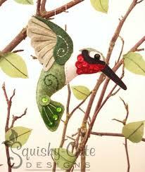 felt hummingbird stuffed animal ornament animal patterns