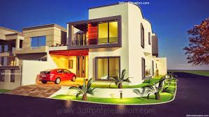 3d front elevation com 10 marla plot modern contemporary house 10 marla house layout bahria town rawalpindi 1