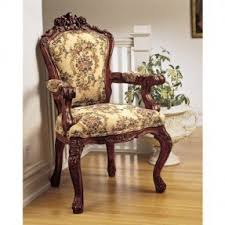 Wooden Accent Chair Upholstered Carved Wood Accent Chair Foter