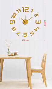 kitchen wall clocks modern online shop new arrival 10em109g modern fashion sticker eva
