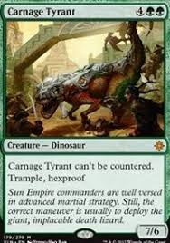 Magic Sideboard Rules Carnage Tyrant Rules And Breaks The Rules Standard R G Dino Aggro