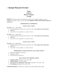 Resumes Sample by View Resumes 20 View Resume Resume Sample Format With Regard To