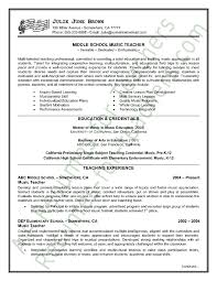 resume example teacher