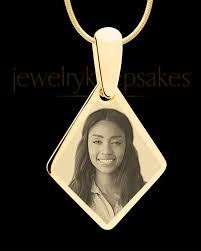 engraved pendants gold elongated diamond photo engraved pendant and diamond photo pendants