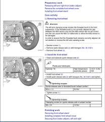 front wheel removal service manual page bmw k1600 forum bmw
