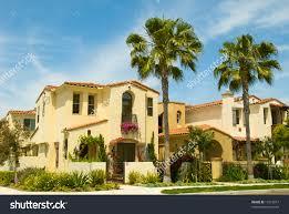 spanish style houses master planned community stock photo 17316817