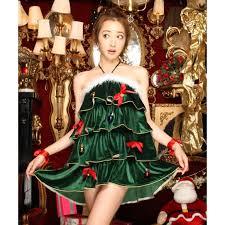 green halter christmas tree costume xt10935