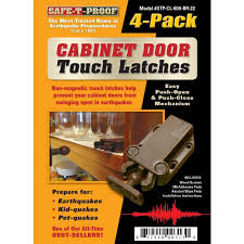 earthquake proof cabinet locks touchlatch non magnetic cabinet door earthquake latches 4 pack
