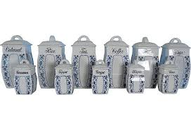 blue and white kitchen canisters kitchens canisters set of 11 sold janice buck