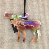 copper moose w swirl ornament made in mt christmas pinterest