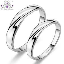 rings silver simple images Real 925 sterling silver simple plain twisted design cpules rings jpg