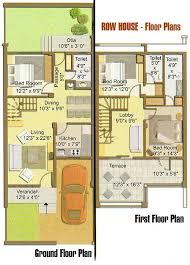houses plan row house floor plan regarding houses plans decorations 6