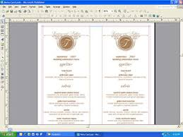 elegant dosinia shells wedding menu cards personalized stationery