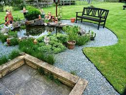 Steel Landscape Edging by Decor Metal Landscape Edging With Pond And Bench For Garden