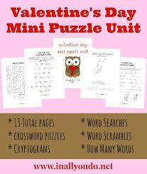 free valentine u0027s day mini puzzle unit prek 5