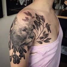 Shoulder Tattoos - vahşi kedi kadın omuz dövmeleri cat shoulder tattoos
