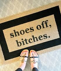 Funny Area Rugs Shoes Off Bitches Decorative Door Mat Area Rug Funny