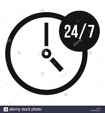clock 24 7 icon simple style stock vector art u0026 illustration