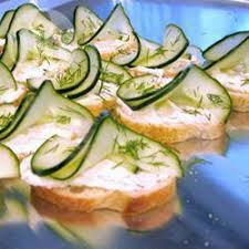 cucumber canapes cucumber and dill canapes recipe all recipes uk