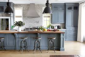 blue gray kitchen cabinets blue grey kitchen cabinets butcher block get the look with