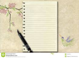 lined writing paper with picture space calligraphy pen and old writing paper stock images image 16818374 royalty free stock photo