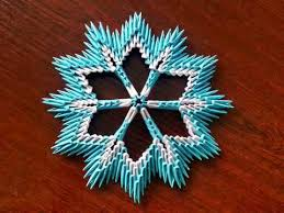3d origami beginner tutorial 3d origami simple snowflake tutorial youtube