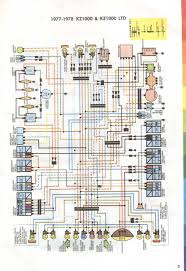 wiring diagram for 1977 u2013 1978 kawasaki kz1000 and kz1000ltd