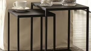 pottery barn nesting tables black metal nesting bedside table brilliant tables inside 19