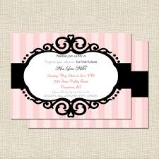 Bridal Shower Invitation Cards Attractive Pink And White Bridal Shower Invites Card With Black