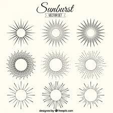 sunburst ornaments vector free