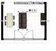 square living room layout ideas for living dining layout in open square room apartment