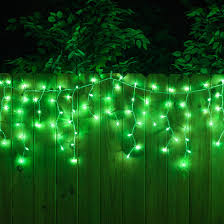 christmas icicle light 100 green icicle lights white wire