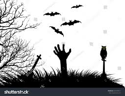 scary halloween white background halloween vector background on white isolated stock vector