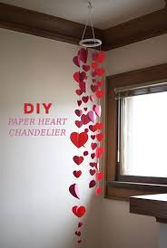 s day decorations for home paper heart garland hearts diy valentines decorations home design
