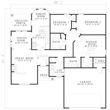 open living house plans open plan living 5956nd architectural designs house plans