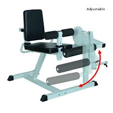 aosom soozier adjustable leg curl machine white black pop up