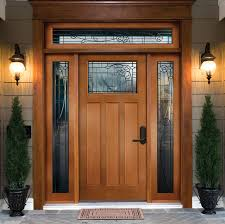 Shaker Style Exterior Doors Steves Sons 36 In X 80 Shaker 3 Lite Stained Mahogany Wood