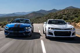 car and driver mustang vs camaro 2017 chevrolet camaro zl1 vs 2017 ford mustang shelby gt350r the