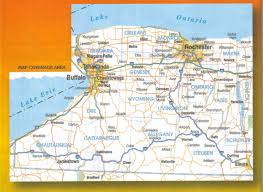 wall maps western ny laminated wall map jimapco