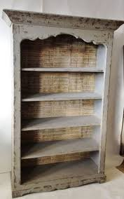 Antique White Bookcases by Furniture Modern Backless Distressed Bookcase Decor Pinterest