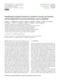 identification of glacial melt water runoff in a karstic