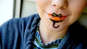 easy halloween kitty cat lips costume tutorial with snazaroo face