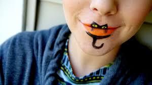 halloween kitty face easy halloween kitty cat lips costume tutorial with snazaroo face