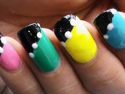 NO TOOLS  Easy Nail Art Designs For Beginners Without Tools - At home nail art designs for beginners