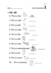reading comprehension 1 for year 3
