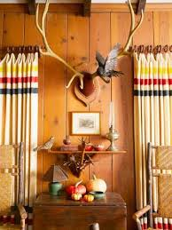 Cabin Style Curtains Decorate With Cabin Style Cabin Decorating And Hudson Bay Blanket