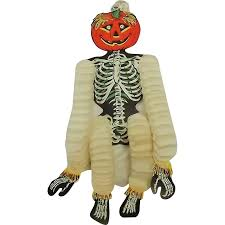 Dancing Halloween Skeleton by Dancing Skeleton With Jack O Lantern Head Hanging Halloween