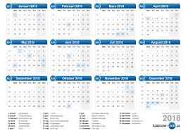 Kalender 2018 Helgdagar 2018
